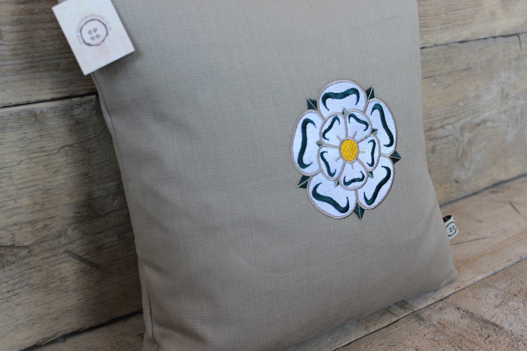 Yorkshire rose cushion the little button co